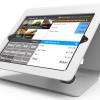 iPad 9.7インチ用ノーリ・キオスク_白_盗難防止_レジ用_業務用_飲食店用_iPadスタンド_