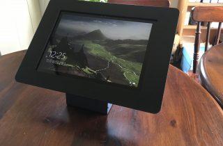 Surface pro用 ロック・ベーシックスタンド_黒_盗難防止機能付き卓上スタンド