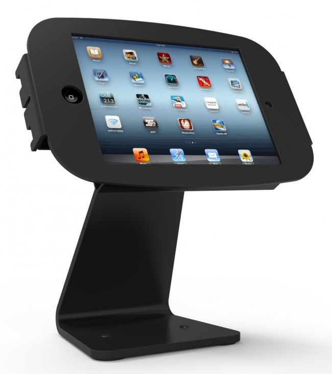 iPad mini用スペース・ミドル360スタンド_盗難防止機能付き_正面_角度調整_画面回転