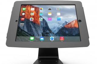iPad_Pro_12.9インチ用スペース・ミドル360スタンド_盗難防止_業務用_黒