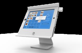 飲食店用iPadスタンド_白・固定・盗難防止303W225POSW_3