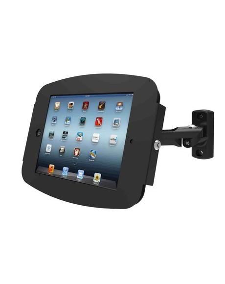 iPad_盗難防止_アームホルダー_壁面設置_スペース・スイングアームスタンド_黒