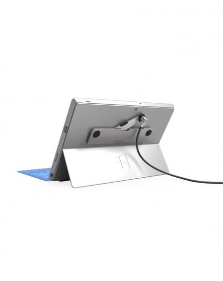 ケンジントンスロットのないMacBookやSurface、タブレットなどにワイヤーロックを取り付け。