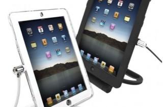 iPad_盗難防止_スタンド_回転機能付き_白_黒
