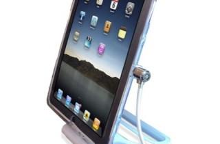 iPad_盗難防止_スタンド_回転機能付き_セキュリティケーブル_ワイヤーロック