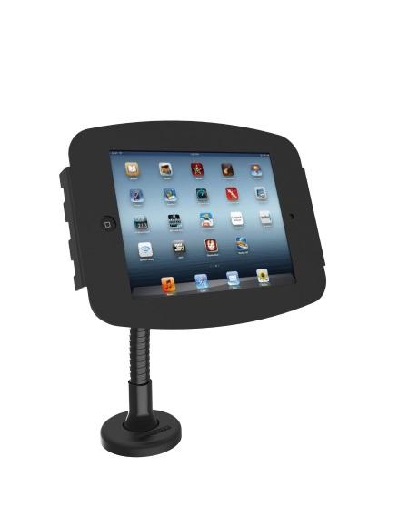 スペース・フレキシブルスタンド_iPad卓上スタンド_業務用_黒
