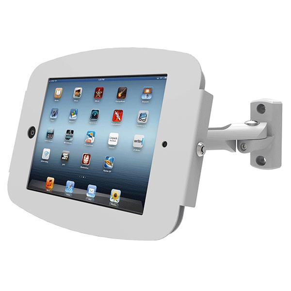 iPad用壁掛け固定ホルダー盗難防止機能付き