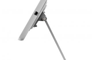 業務用_盗難防止_卓上_iPad用ハイパー・ミドル360スタンド白 横