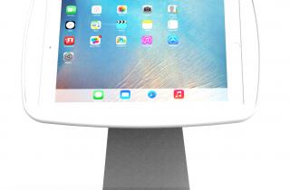 業務用_盗難防止_卓上_iPad用ハイパー・ミドル360スタンド_白