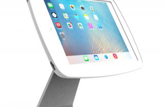 業務用_盗難防止_卓上_iPad用ハイパー・ミドル360スタンド白