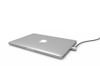 MacBook Proレッジロック_ワイヤーロック