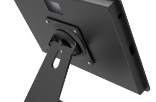 Surface pro用 ロック・ミドルスタンド_黒_盗難防止機能付き卓上スタンド_背面