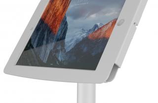 iPad Pro12.9インチ用スペース・ポールスタンド20cm ほーむぼたんぶろっくきのう付き・ケーブル収納