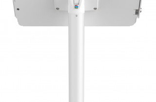 iPad_Pro_12.9インチ用_業務用盗難防止機能付きスタンド_スペース・ポールスタンド_白