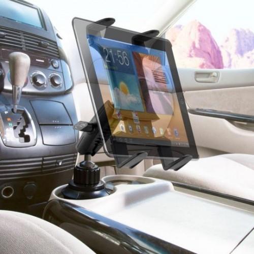 車載用カップホルダー差し込み型タブレットホルダー