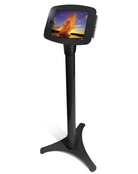 iPad 9.7用スマートフロアスタンド 黒_盗難防止機能_業務用フロアスタンド